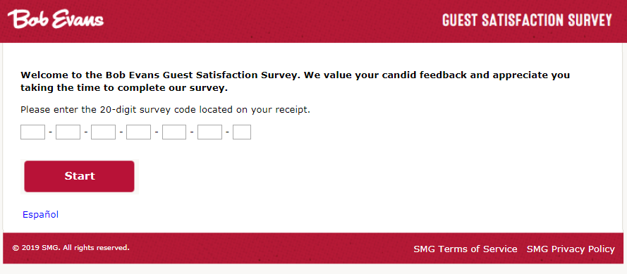 Bob Evans Customer Online Survey