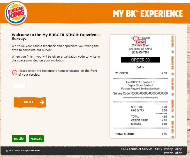 My BK Experience Survey To Win FREE WHOPPER