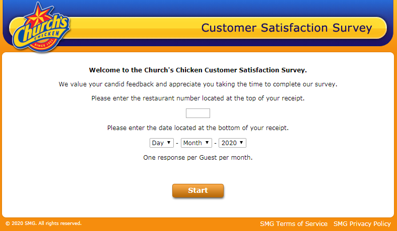 Church chicken Listens Survey