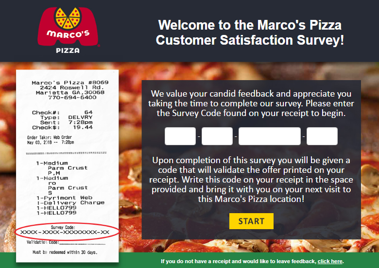Marcos Customer Feedback survey