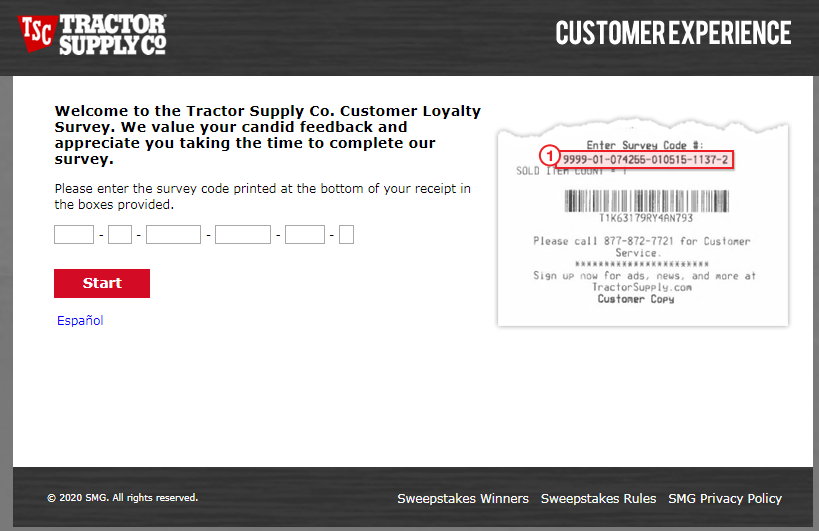 Win $2500 Gift Card in Tractor Supply Survey