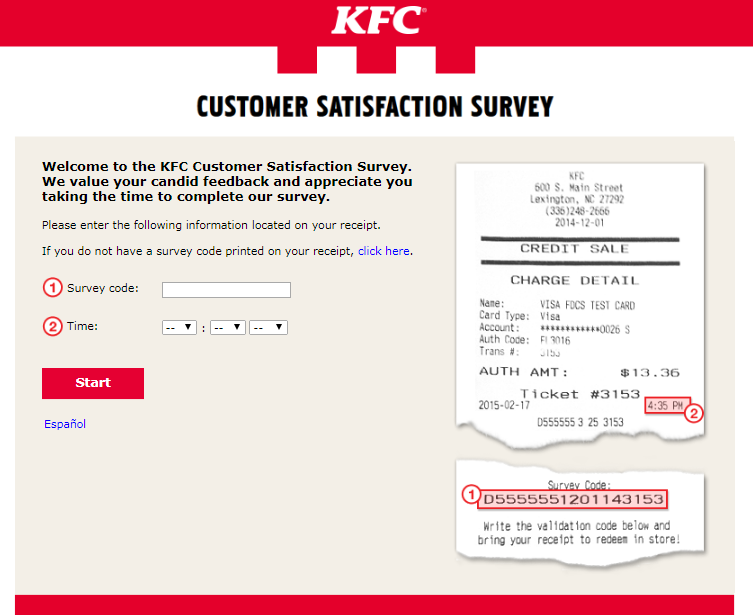 KFC Customer Experience Survey