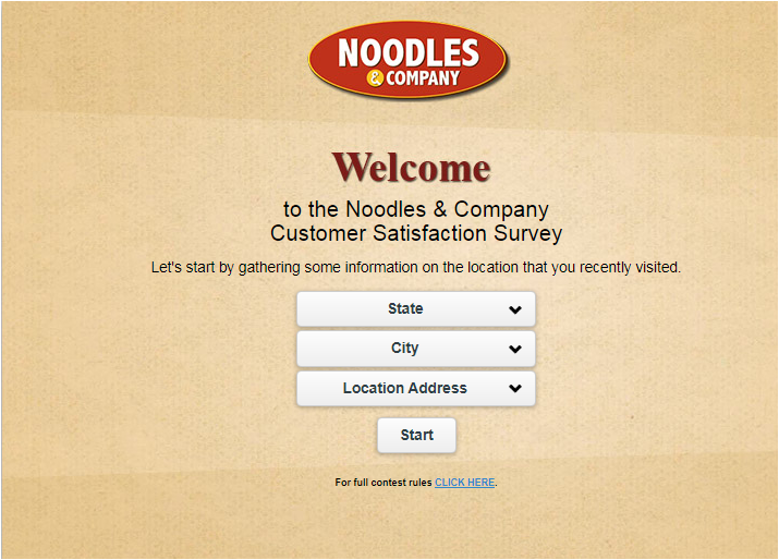 Noodles and Company Guest Feedback Survey