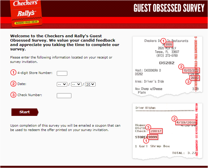 Checkers & Rally's Guest Obsessed survey