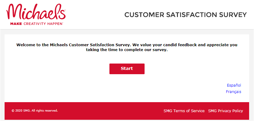 Michaels Guest  Satisfaction Survey