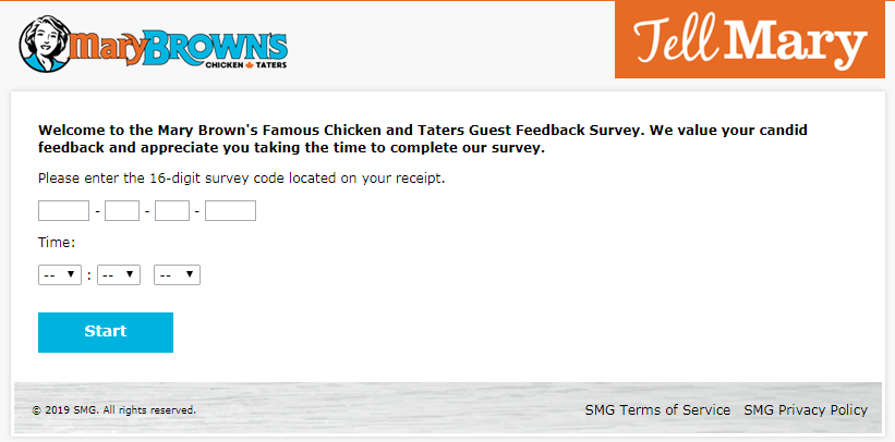 Mary Brown's Guest Experience Survey